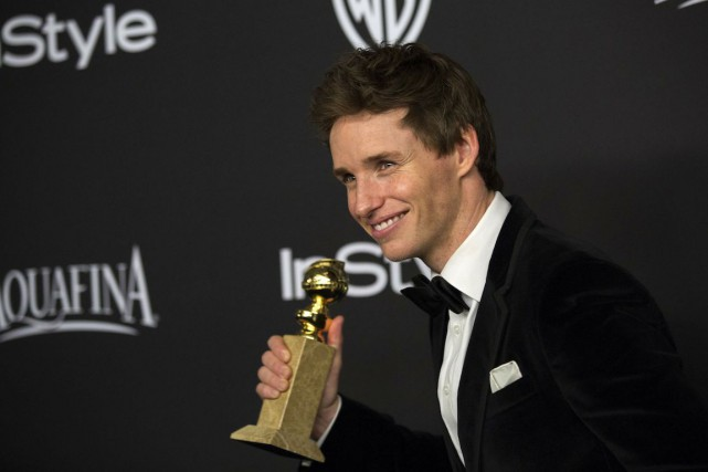 Eddie Redmayne a remporté le Golden Globe du meilleur... (Photo Mario Anzuoni, REUTERS)