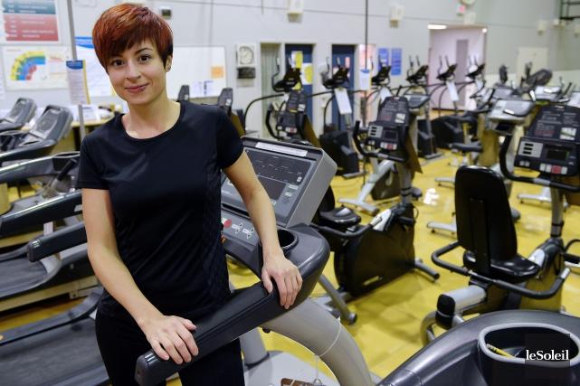Maude Dionne continue parfois de faire du sport... (Photo Erick Labbé, Le Soleil)