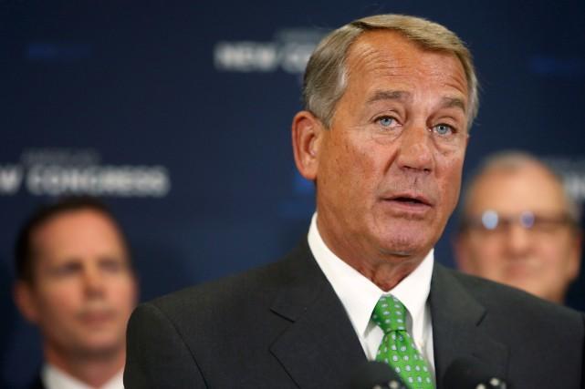 Le président de la Chambre des représentants américaine,John... (Photo JONATHAN ERNST, Reuters)
