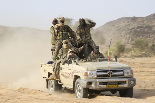 Des soldats tchadiens... (Photo GHISLAIN MARIETTE, Archives AFP)