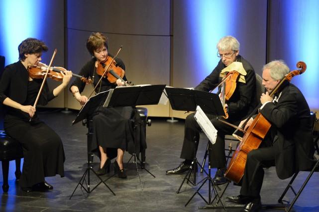 Fort d'un 25e anniversaire d'existence, le Quatuor Alcan... ((Archives))