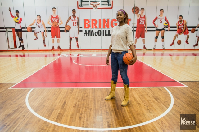 Mariam Sylla a été nommée joueuse par excellence... (Photo Edouard Plante-Fréchette, La Presse)