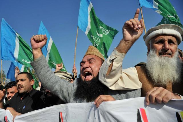 Le Pakistan, deuxième pays musulman le plus peuplé... (PHOTO A MAJEED, AFP)