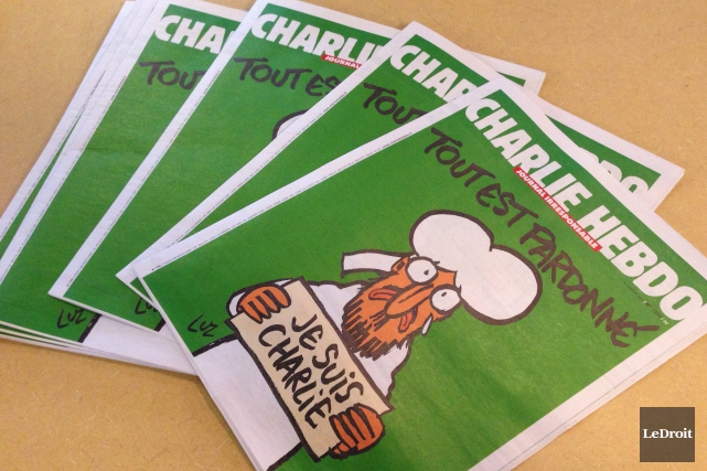 Les copies du Charlie Hebdo se sont envolées... (Patrick Woodbury, LeDroit)