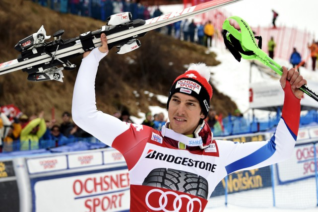 Carlo Janka... (Photo Olivier Morin, AFP)