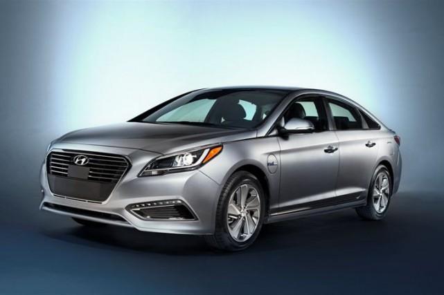 La nouvelle Hyundai Sonata hybride rechargeable... (Photo fournie par Hyundai)