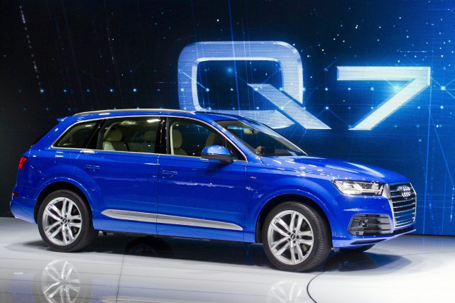 Le Audi Q7 2016... (Photo Tony Ding, AP)