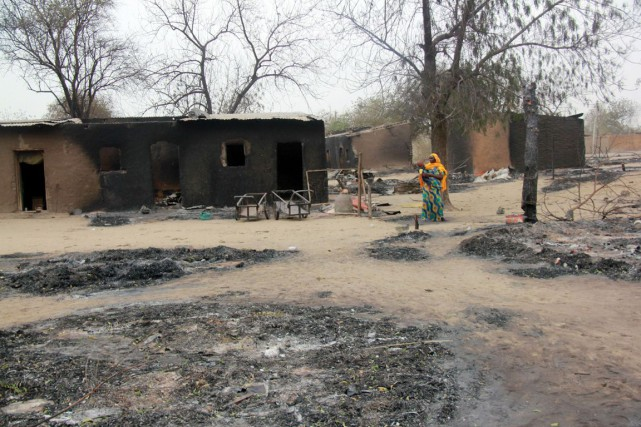 Le 3 janvier, Boko Haram lançait contre Baga,... (PHOTO ARCHIVES AFP/STRINGER)