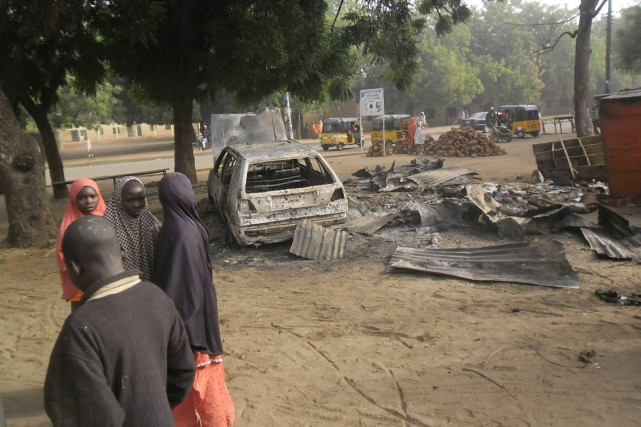Une bombe avait explosé au marché de Potiskum... (Photo Adamu Adamu, archives Associated Press)
