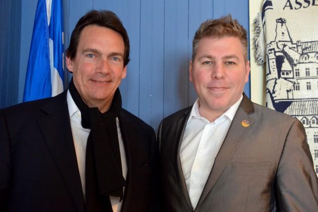 Le candidat à la chefferie du Parti québécois,... (Photo collaboration spéciale Johanne Fournier)