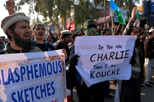 Une manifestation à Islamabad, au Pakistan.... (PHOTO AAMIR QURESHI, AFP)