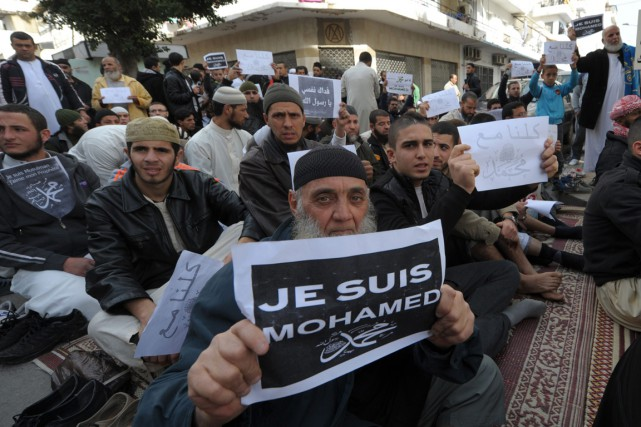 À Alger, 2000 à 3000 manifestants se sont... (Photo Sidali Djarboub, Associated Press)