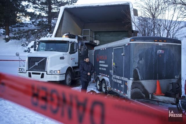 La conduite liant le réservoir de diesel à... (Photo André Pichette, La Presse)