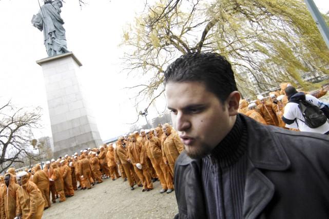 Mourad Benchellali participe en 2007 à Paris à... (PHOTO STÉPHANE DE SAKUTIN, Agence France-Presse)