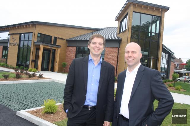 Jules Paquette et Patrick Grégoire dirigent l'entreprise Boréalis... (Archives, La Tribune)