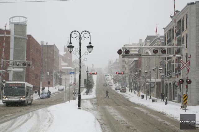 Le centre-ville de Sherbrooke est appelé à se transformer au cours des 25... (IMACOM, René Marquis)