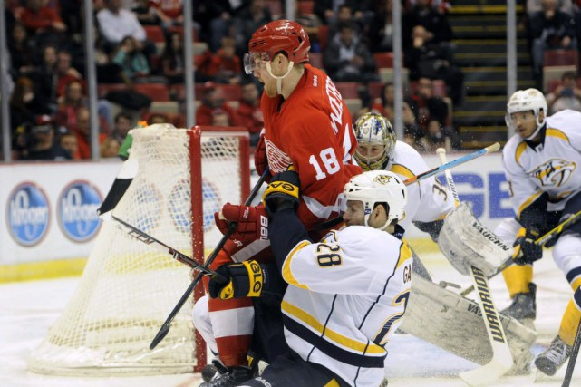 Les Red Wings de Detroit battent les Predators... (Photo Jose Juarez, AP)