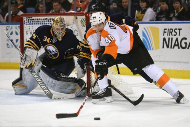 Les Sabres ont encaissé une dixième défaite de... (Photo Gary Wiepert, AP)