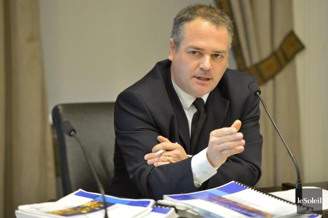 Le vice-président du comité exécutif de la Ville,... (Photo Le Soleil, Yan Doublet)