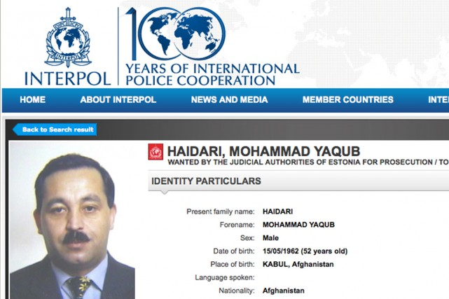 M. Haidari est recherché par la justice estonienne.... (Photo tirée du site web)