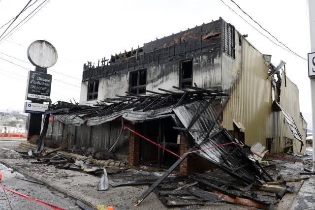 Le feu qui a complètement ravagé le restaurant-bar... ((Archives))