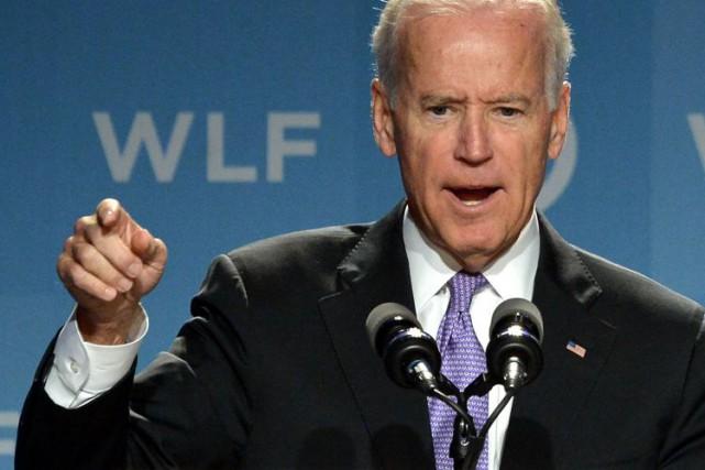 Joe Biden et son épouse n'étaient pas dans... (Photo d'archives AFP)