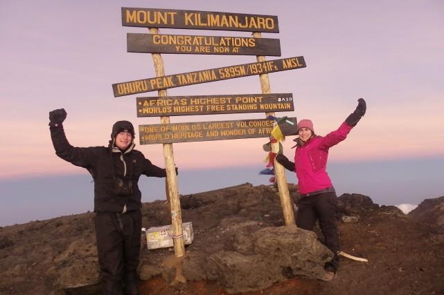 Simon Mathieu et Audrey Beaudry ont atteint le... (Photo fournie)