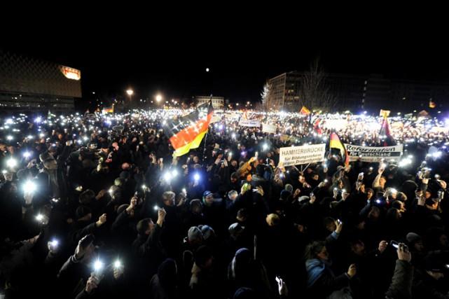 Les rassemblements de PEGIDA («Patriotes européens contre l'islamisation... (Photo: AFP)