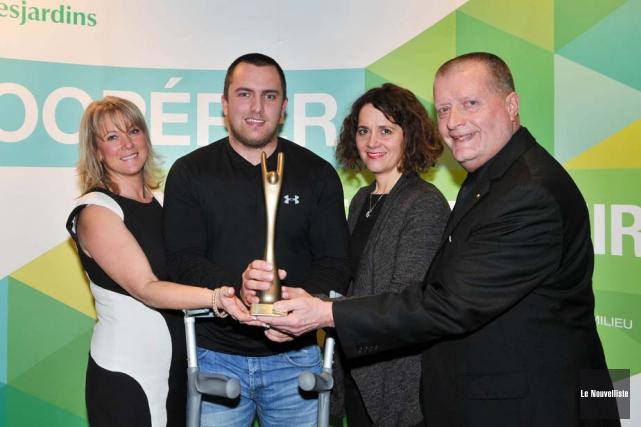 Tommy Grenier a été le lauréat du prix... (Photo: Émilie O'Connor, Le Nouvelliste)