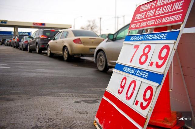 L'essence se vendait à 78,9 cents le litre... (Martin Roy, LeDroit)