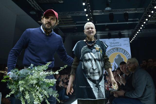 Andreas Kronthaler et Vivienne Westwood... (Photo TIZIANA FABI, AFP)