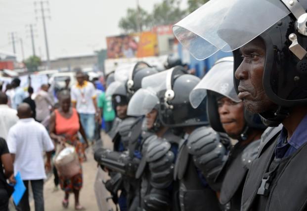 Trois personnes, dont un policier, ont été tuées lundi à Kinshasa lors de... (Photo PAPY MULONGO, Archives AFP)