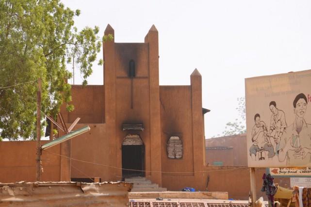 «Des dégâts importants ont été enregistrés: 45 églises,... (PHOTO  BOUREIMA HAMA, AFP)