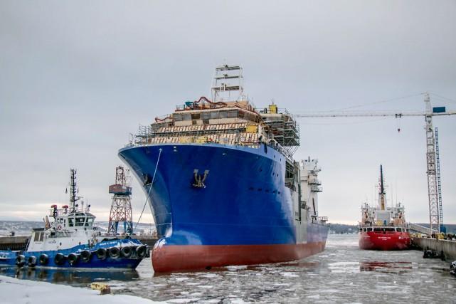 Chantier Davie Canada assemble actuellement deux navires destinés... (Photo fournie par Chantier Davie Canada)