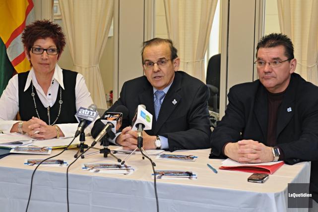 En mars 2009, Michel Guimond (à droite), alors... ((Archives Le Quotidien))