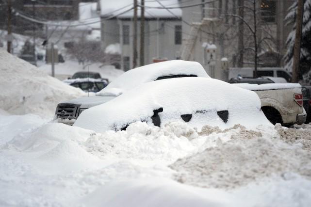 La première bordée de neige de 2015 a... ((Photo Jeannot Lévesque))