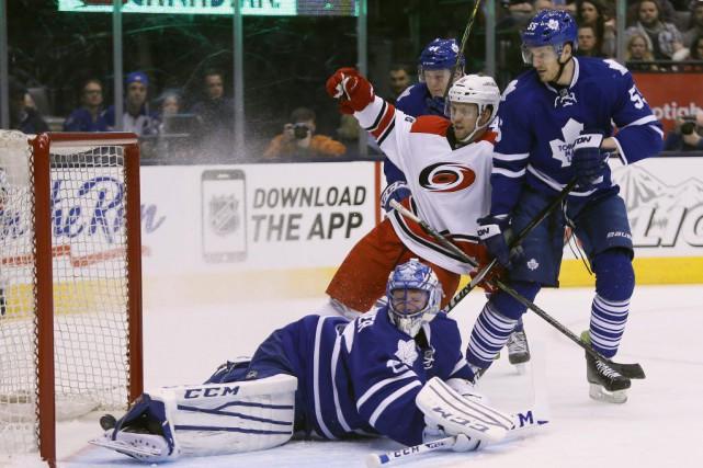 Après avoir perdu quatre matchs à l'extérieur, les Maple Leafs de Toronto sont... (Photo: Reuters)