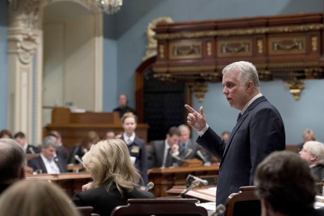 Philippe Couillard à l'Assemblée nationale du Québec, en... (PHOTO ARCHIVES LA PRESSE CANADIENNE)
