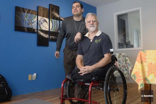 Alain Doiron (à droite) a mis sur pied... (Photo: Sylvain Mayer, Le Nouvelliste)