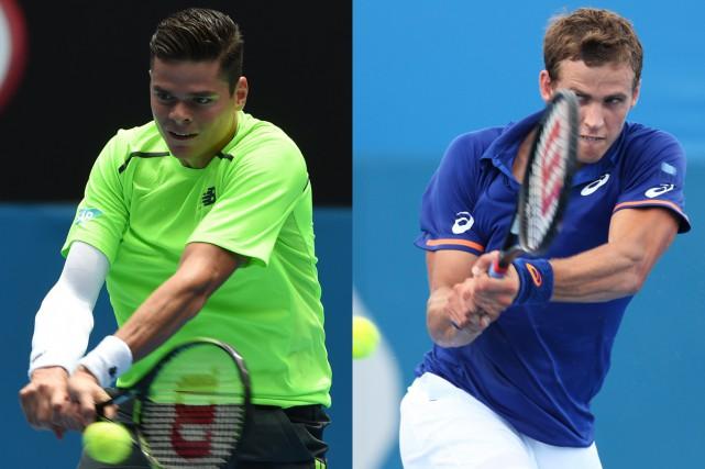 Milos Raonic et Vasek Pospisil... (Photos AFP)