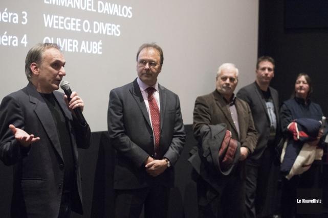 Au terme du visionnement du documentaire Novembre 84... (Photo: Stéphane Lessard, Le Nouvelliste)