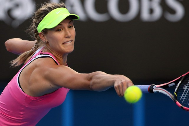 Eugenie Bouchard a entrepris les Internationaux d'Australie en... (Photo Rob Griffith, AP)