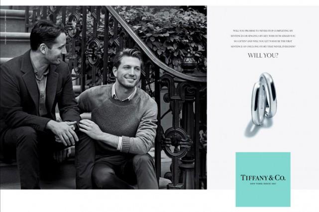La campagne en noir et blanc est signée... (Photo fournie par Tiffany & Co.)
