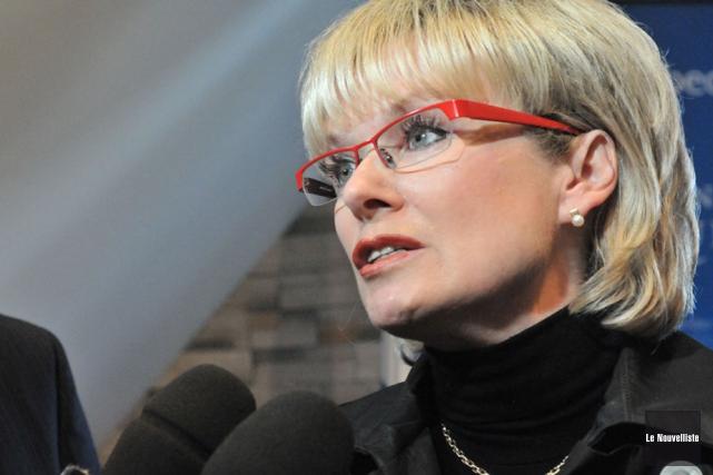 La députée de Laviolette, Julie Boulet.... (Photo: Stéphane Lessard, Le Nouvelliste)