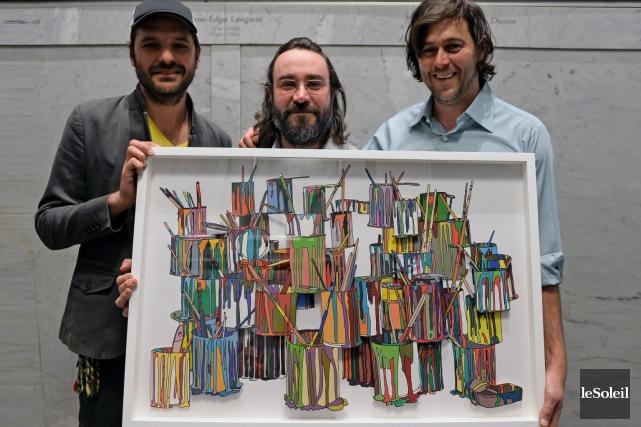 Le collectif BGL formé de Jasmin Bilodeau, Sebastien... (Le Soleil, Erick Labbé)