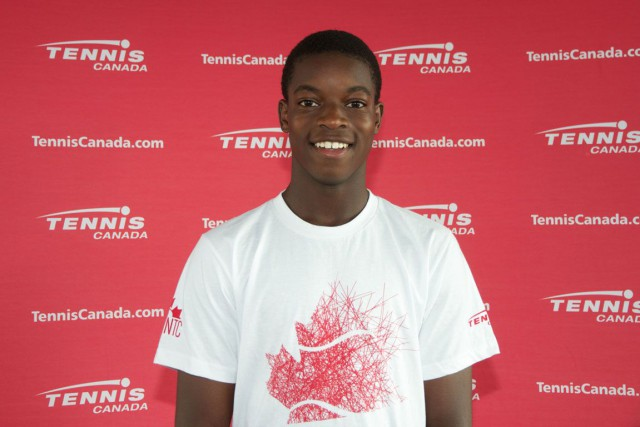 Nicaise Nuamba... (Photo courtoisie Tennis Canada)
