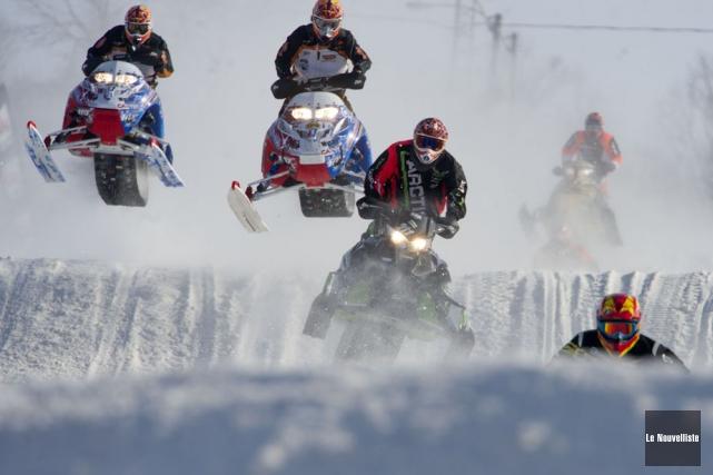 L'International Snocross de Louiseville pourrait prendre le chemin... (Photo: Stéphane Lessard, Le Nouvelliste)