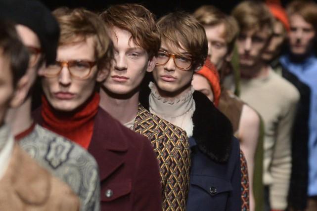 Le défilé de Gucci, à Milan.... (PHOTO TIZIANA FABI, AFP)