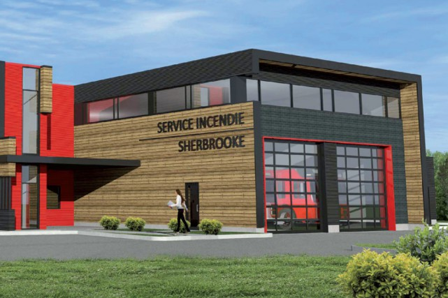 La Ville de Sherbrooke procédera à l'inauguration de sa nouvelle caserne du... (Photo fournie par la Ville de Sherbrooke)