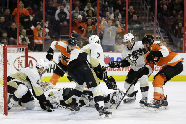 Claude Giroux a marqué à 3:57 de la prolongation pour mener les Flyers de... (Photo: AP)